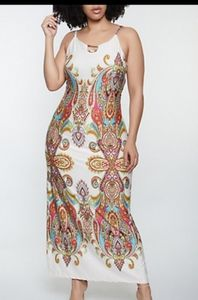 Love Nation paisley maxi dress with tie back New